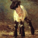 lamb oil painting by Sue Westin