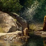 River Otter painting by John C. Pitcher