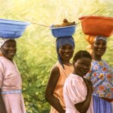 A painting of Haitian women by Sue Westin