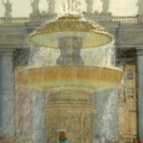 A painting of the Bernini Fountain by Sue Westin